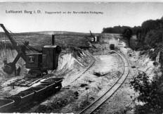 Bau der Marschbahn